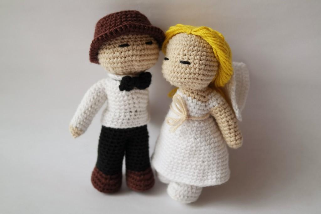DIY hæklet brudepar