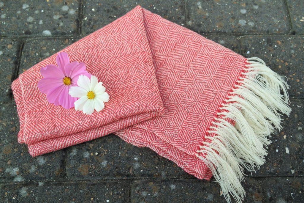 Vævet halstørklæde
