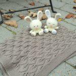Bellatæppe - strikket babytæppe